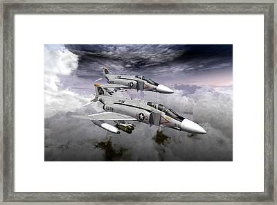 Pair Of Rhinos Framed Print