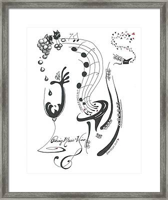 Pairing Music To Wine Framed Print by Gautschy