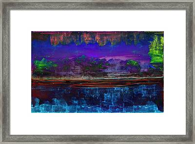 Paisaje Abstracto Nocturno Framed Print