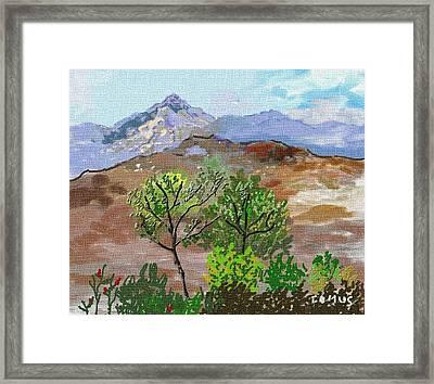 Paisaje- Chile-cerro Campana Framed Print by Carlos Camus