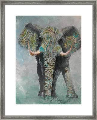 Paisley Elephant Framed Print