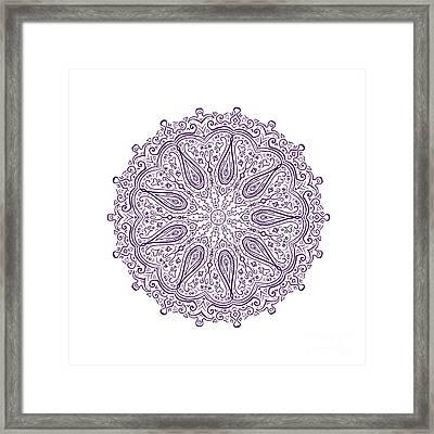 Paisley Pattern Mandala Framed Print