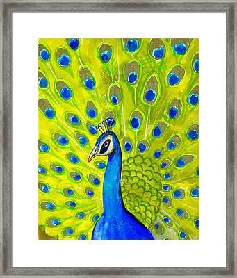 Paisley Peacock Framed Print by Blenda Studio