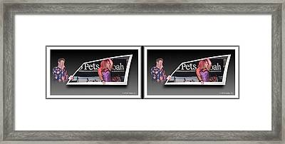 Pajama Night - Gently Cross Your Eyes And Focus On The Middle Image Framed Print by Brian Wallace