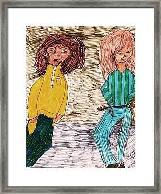 Pajama Party Framed Print by Elinor Rakowski