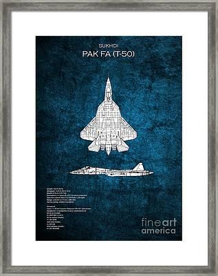Pak Fa T50 Blueprint Framed Print