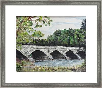 Pakenham Bridge Framed Print by Betty-Anne McDonald