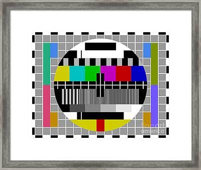 Pal Tv Test Signal Framed Print by Vitezslav Valka