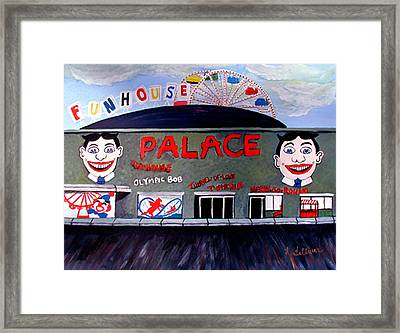 Palace Amusements Asbury Park Nj Framed Print by Norma Tolliver