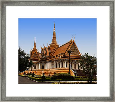 Palace At Phnom Phen Framed Print