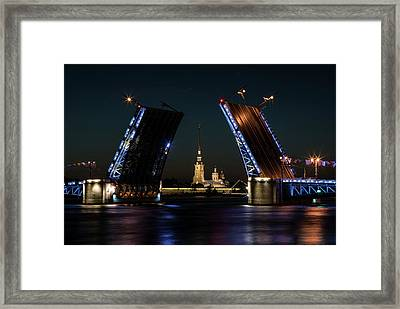 Palace Bridge At Night Framed Print