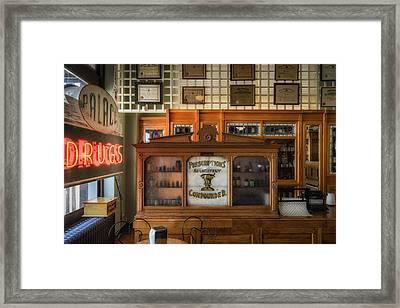 Palace Drugstore Framed Print by James Barber