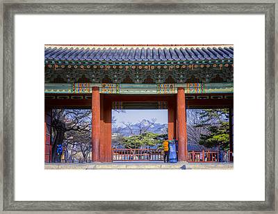 Palace Entry Framed Print