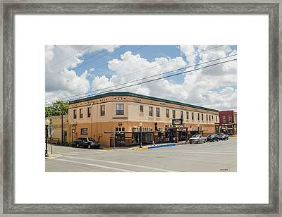 Palace Hotel In Silver City, N M Framed Print by Allen Sheffield