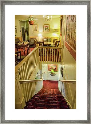 Palace Hotel Staircase Framed Print by Allen Sheffield