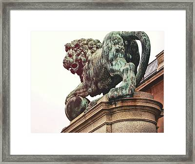 Palace Lion Framed Print by JAMART Photography