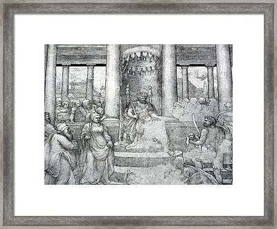 Palace Mural Framed Print by Lori Seaman