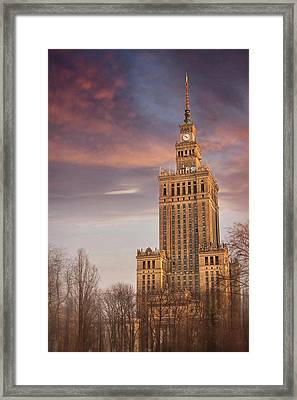 Palace Of Culture And Science Warsaw Poland  Framed Print