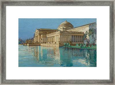 Palace Of Fine Arts Framed Print by Childe Hassam