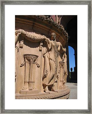 Palace Of Fine Arts Maiden In San Francisco Framed Print