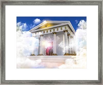Palace Of Helios The Titan God Of The Sun Framed Print