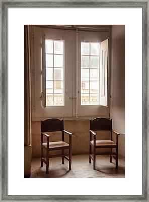 Palace Of Mafra, Portugal, Seating Framed Print