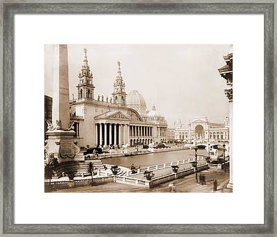 Palace Of Mechanic Arts And Lagoon Framed Print by Everett