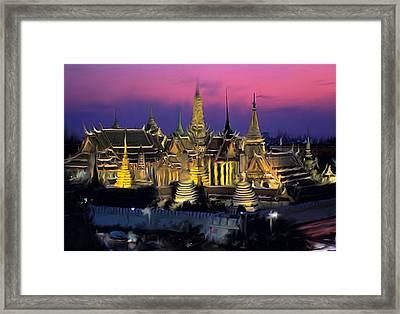 Palace Framed Print by Robert Bewick
