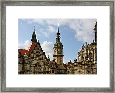 Palace Square In Dresden Framed Print by Christine Till