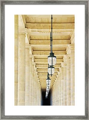 Palais-royal Arcade - Paris, France Framed Print