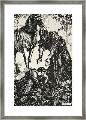 Palamides Appeared Before Isolde Framed Print