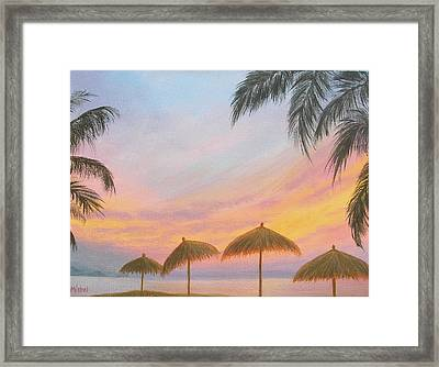 Palapa Point Framed Print