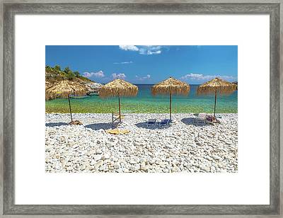 Palapa Umbrellas Framed Print