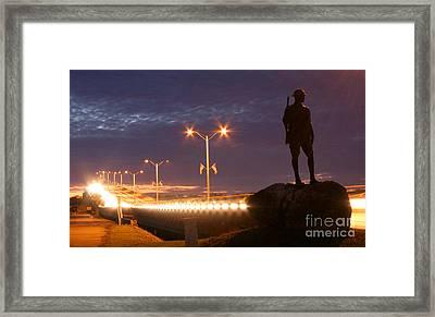 Palatka Memorial Bridge Doughboy Framed Print by Angie Bechanan