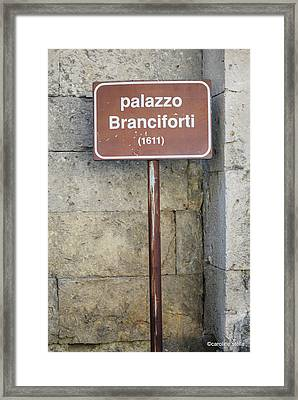 palazzo Branciforte 1611 Framed Print