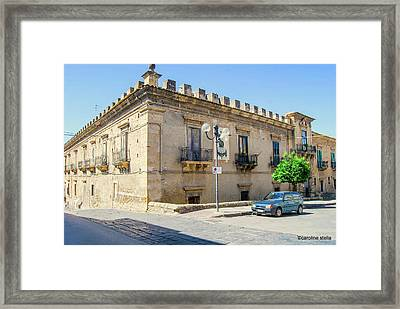 Palazzo Branciforte Or Braranciforti Sicily Framed Print by Caroline Stella
