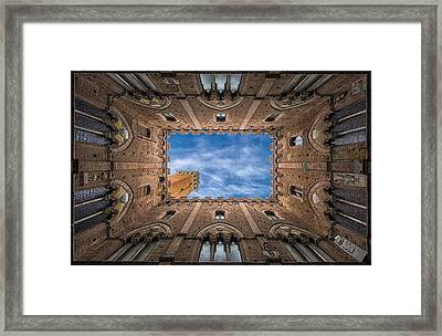 Palazzo Pubblico - Siena - Nv Framed Print by Frank Smout Images