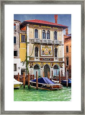 Palazzo Salviati Grand Canal Venice  Framed Print