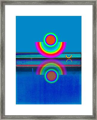Pale Blue Reflections Framed Print by Charles Stuart