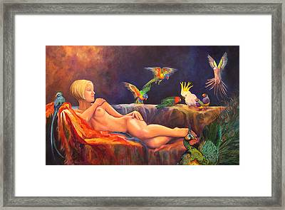 Pale By Comparison Framed Print by Valerie Aune