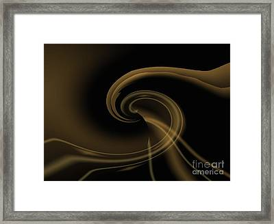 Pale Darkness - Abstract Framed Print