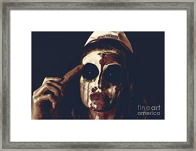 Pale Ghost With Black Eyes Thinking Up Bad Idea Framed Print by Jorgo Photography - Wall Art Gallery