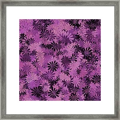 Pale Pink Floral Pattern Framed Print