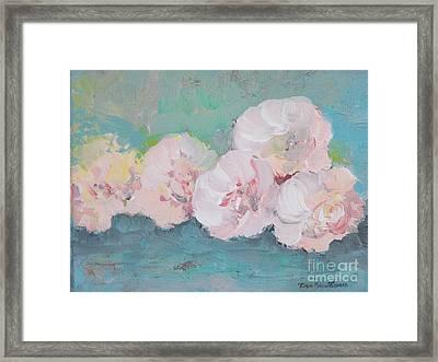 Pale Pink Peonies Framed Print