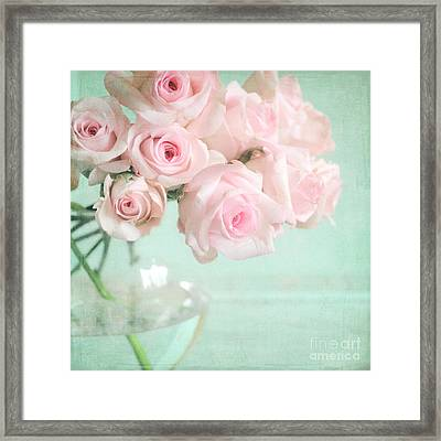 Pale Pink Roses Framed Print by Lyn Randle