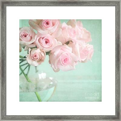 Pale Pink Roses Framed Print