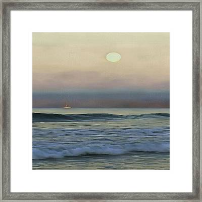 Pale Sunset Framed Print
