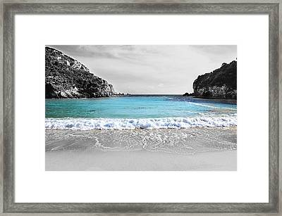 Paleokastritsa Beach Corfu Framed Print