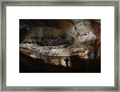 Paleolithic Bulls And Other Animals Framed Print by Sisse Brimberg