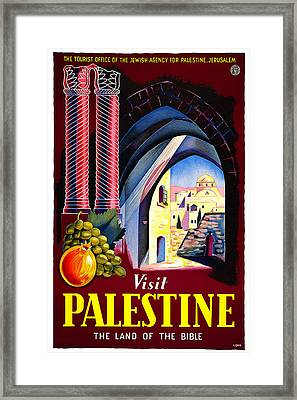 Palestine - Land Of The Bible Framed Print